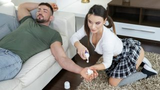 Lana Roy gets anal cock punished for her naughty pranks